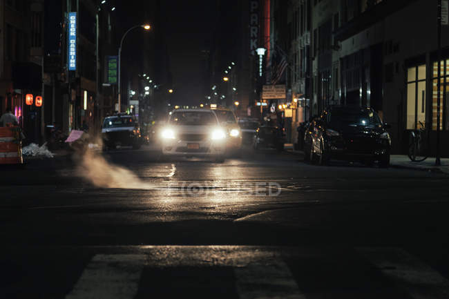 Scena di notte a New York — Foto stock