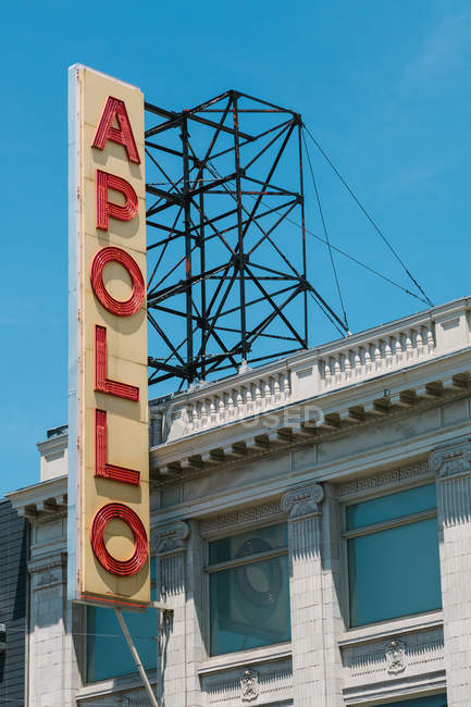 Signe en dehors de l'Apollo Theater — Photo de stock
