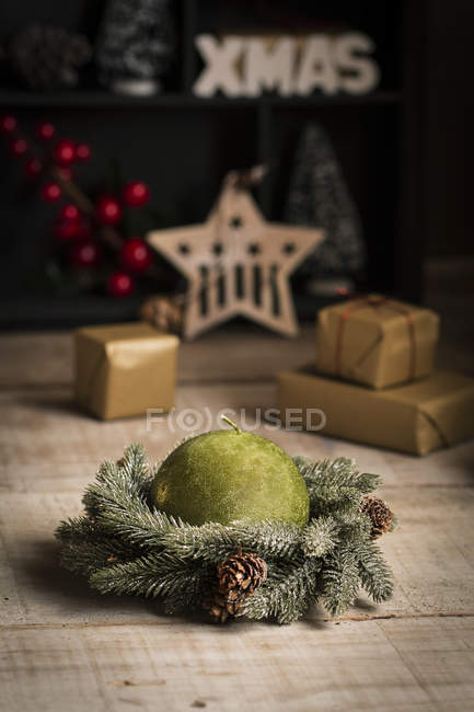 Candle for Critsmas time — Stock Photo
