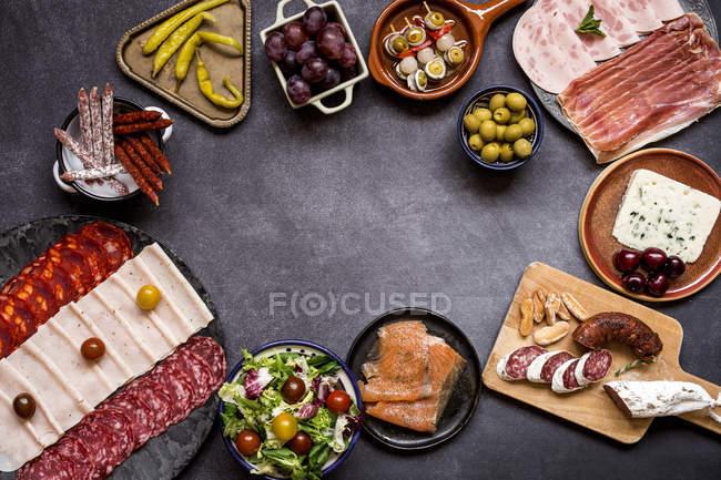 Блюда испанской кухни — стоковое фото
