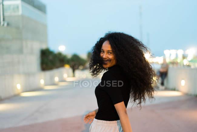 Lovely curly girl — Stock Photo