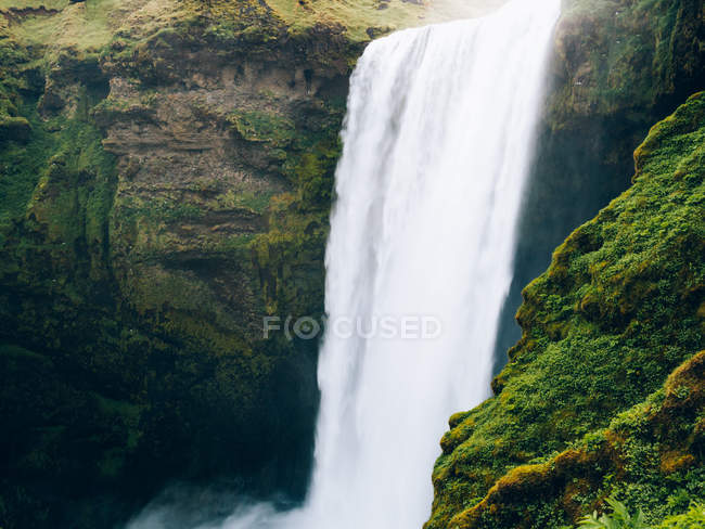 Picturesque waterfall, Iceland — Stock Photo
