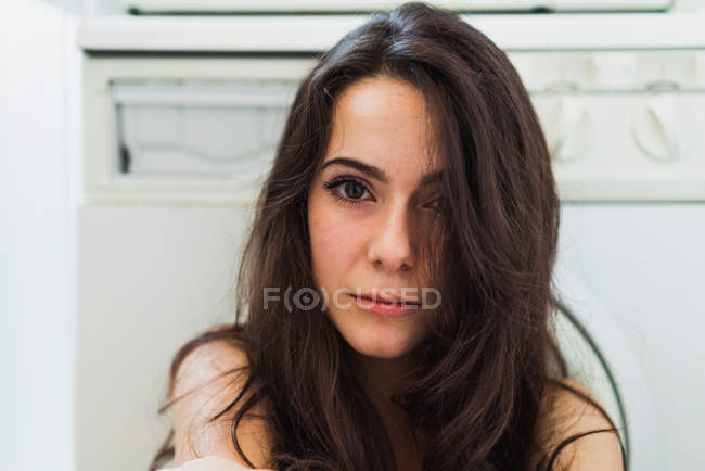 Gentle beautiful woman — Stock Photo