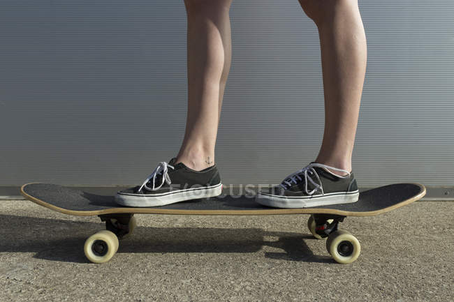 Crop woman with board — Stock Photo