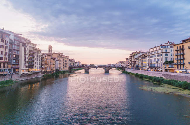 Perspective view of Florence channel — Stock Photo