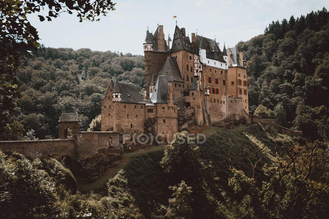 Old castle on green hill — Stock Photo