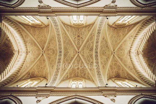 Captura de fotograma completo de recargado ornamento del techo de la Catedral - foto de stock