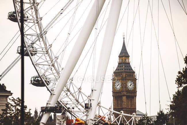 Transbordador ocular de Londres - foto de stock