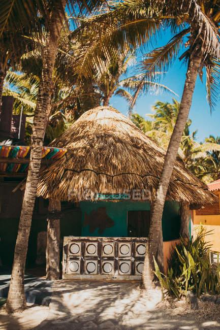 Кабіні тропічний пляж — стокове фото