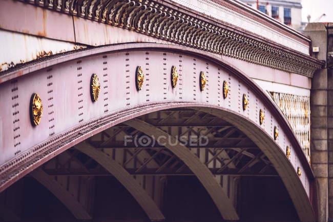 Steel arch of bridge — Stock Photo