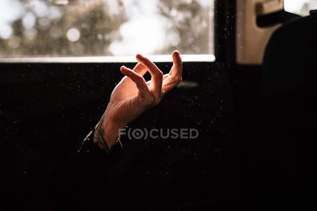 Закри жіночих рук у світлове пляма від вікна — стокове фото