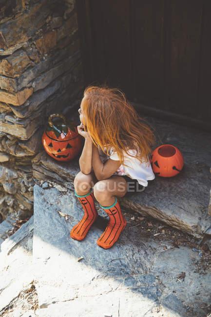 Девушка с тыквами