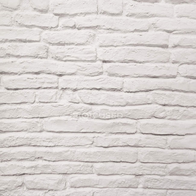 Close up view of white brick wall texture — Stock Photo