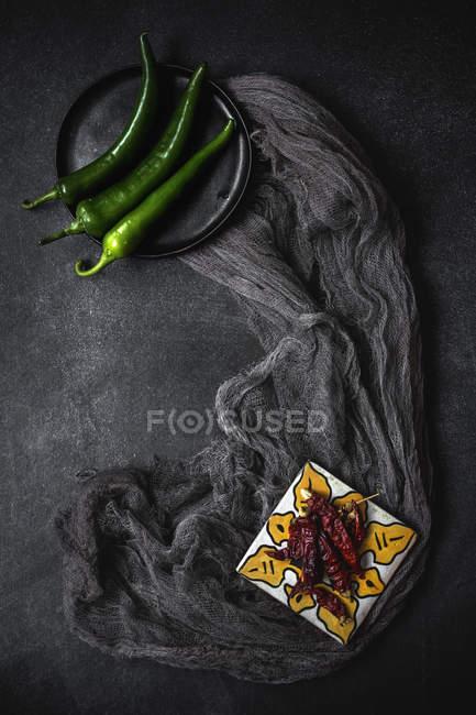 Chiles verdes - foto de stock