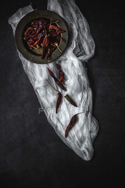 Chiles secos - foto de stock