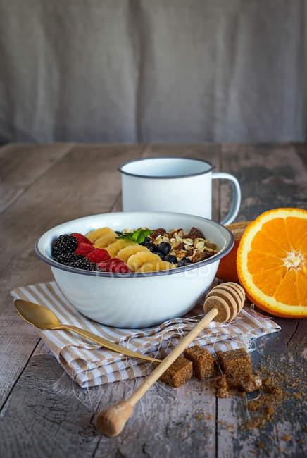 Bol de Smoothie aux fruits — Photo de stock