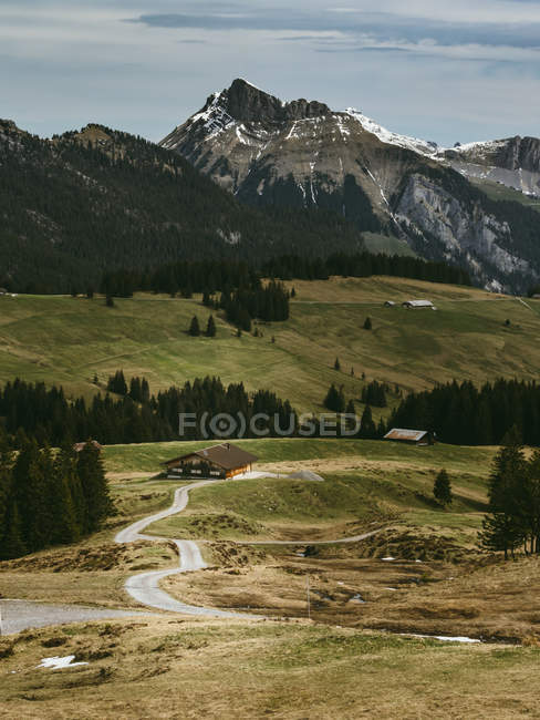 Landscape of exotic rural village — Stock Photo