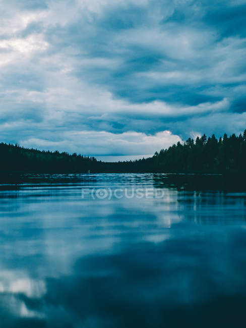 Calm water of lake — Stock Photo