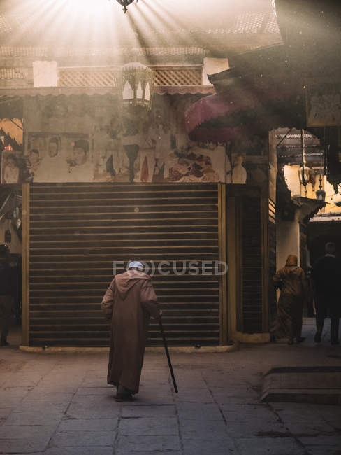 People walking  in oriental district — Stock Photo