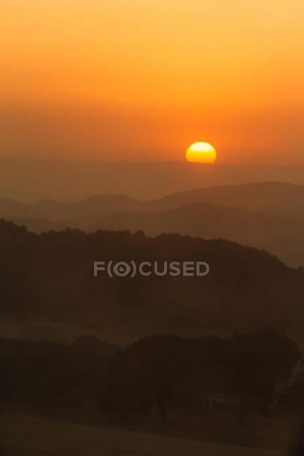 Hills in sunset light — Stock Photo