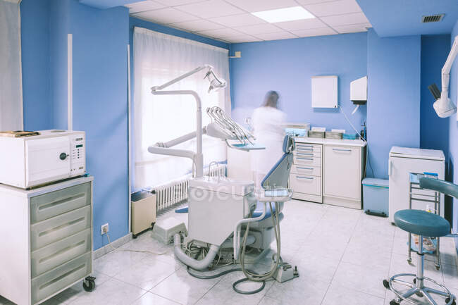 Внутрішня частина стоматологічної клініки — стокове фото