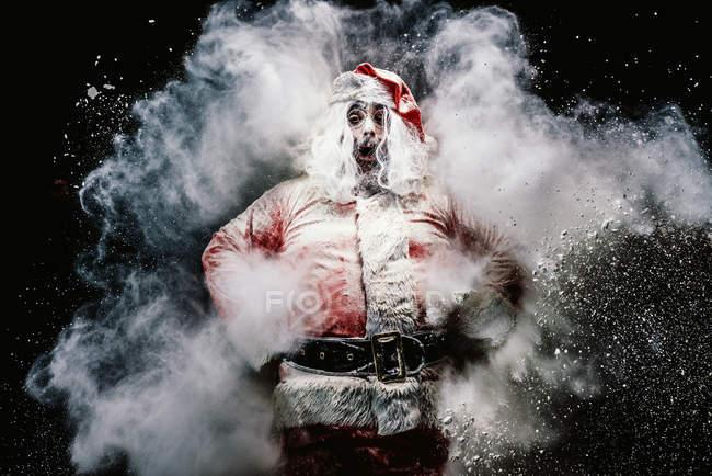 Здивований, Дід Мороз, сніг хмара — стокове фото
