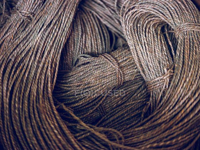 Full frame shot of rural rope skeins — Stock Photo