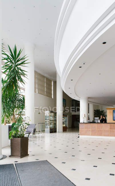 Interior view of  empty hall in hotel — Stock Photo