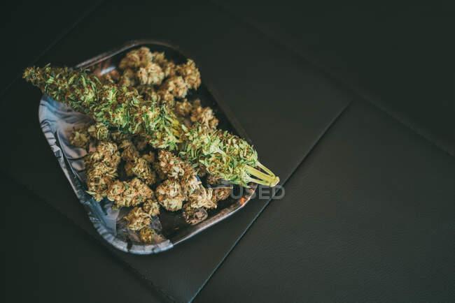 Marihuana o planta de cannabis - foto de stock