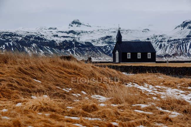 Невелика церква на сухих Луці — стокове фото