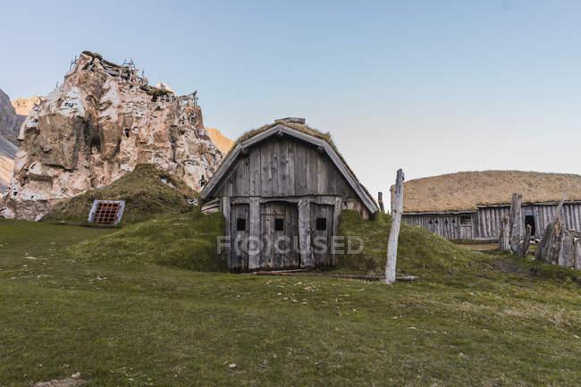 Трикутні старий дерев'яний — стокове фото