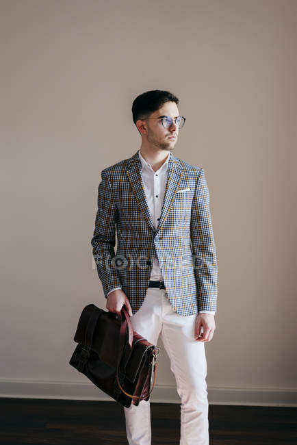 Stylish man in casual jacket — Stock Photo