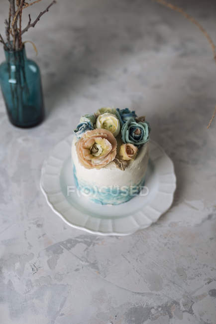 Buttercream квітка торт — стокове фото