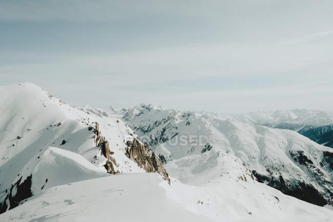 High snowy mountains — Stock Photo