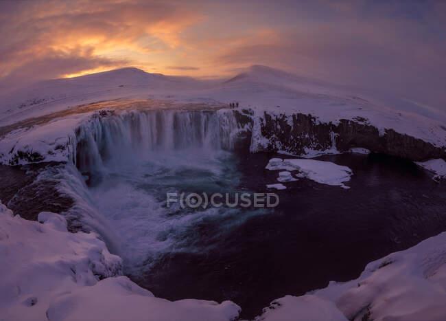 Beautiful waterfalls in Iceland — Stock Photo
