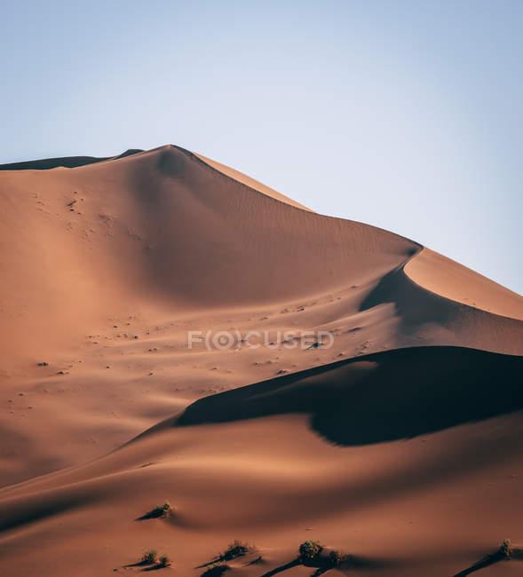Піщані дюни в сонячний день в пустелі Намібії — стокове фото