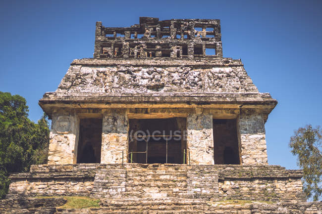 Майя піраміди, розташована в місті Паленке в Чьяпас, Мексика — стокове фото