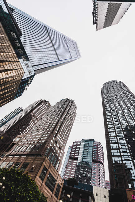 Skyscrapers under hazy sky, Chongqing, China — Stock Photo