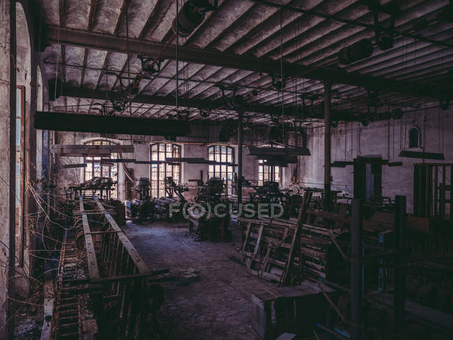Room in old abandoned factory — Stock Photo