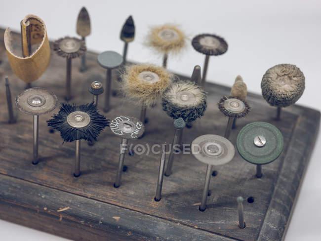 Set of tooth polishing tools — Stock Photo