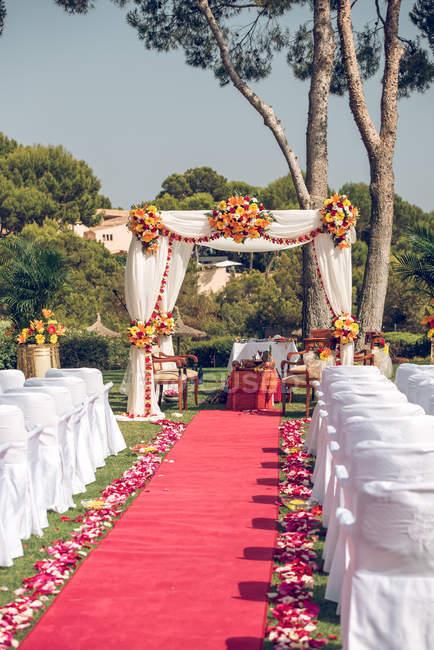 Décorations de mariage hindou — Photo de stock