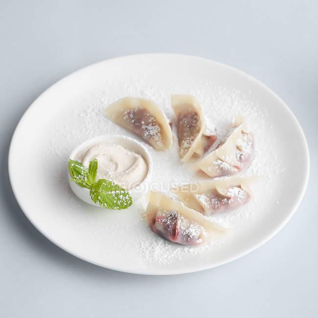 Japanische traditionelle Dessert Knödel — Stockfoto
