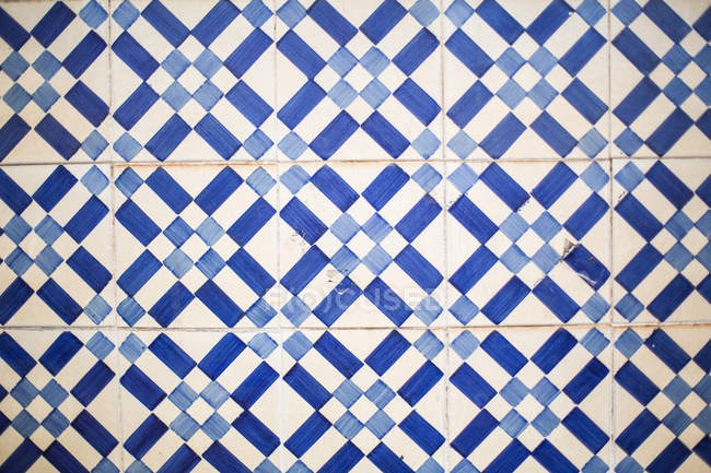 Typical Portuguese tile — Stock Photo