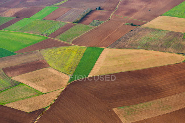 Colorful farming fields — Stock Photo