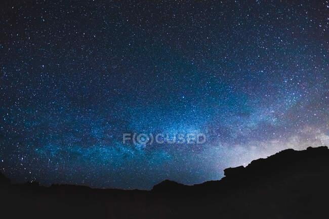 Starry sky, Menorca, Spain — Stock Photo