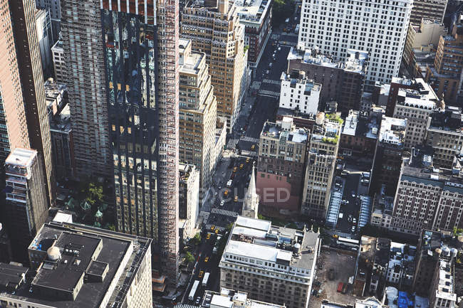 Cidade futurista do centro da cidade, Nova York, EUA — Fotografia de Stock