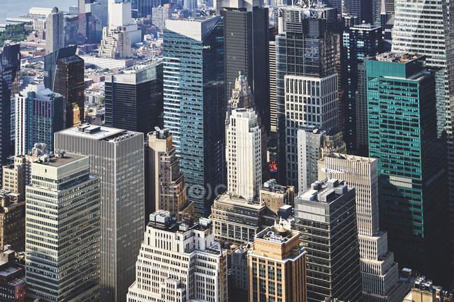 Futuristic downtown cityscape, New York, USA — Stock Photo