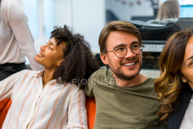Business team making meeting in creative office — Stock Photo