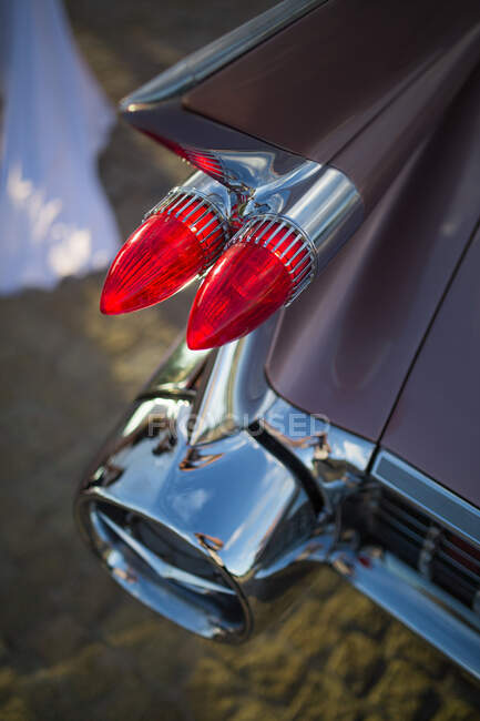 Closeup of Classic old car details — Stock Photo