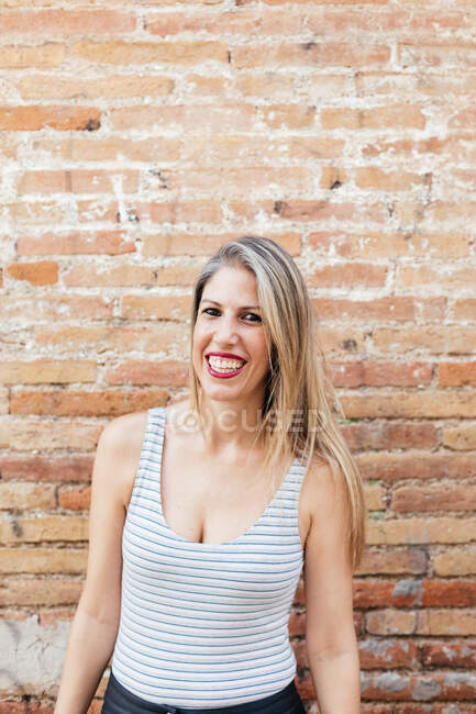 Portrait of a blonde young girl — Stock Photo
